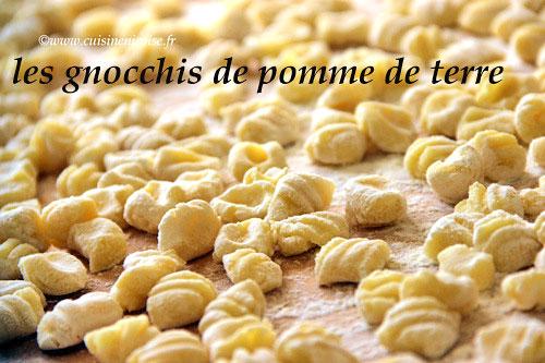 gnocchis pommes de terre