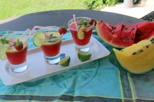 le cocktail pastèque clic pour la recette