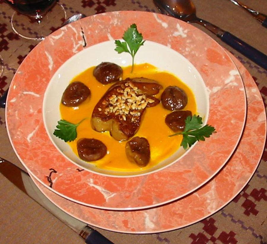 soupe foie gras marrons gm