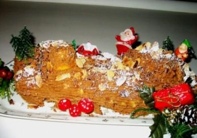 Buche de Noël et sa crème au beurre