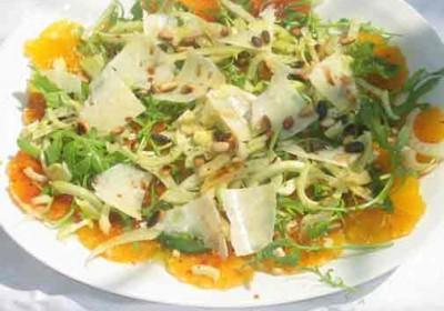 carpaccio orange sanguine fenouil